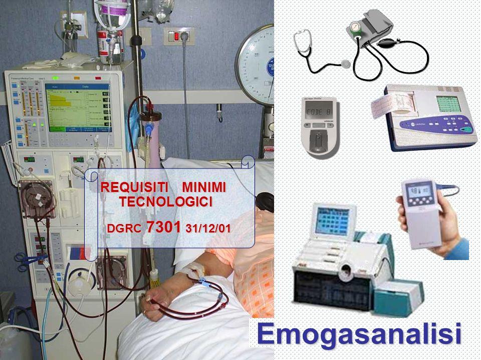 Emogasanalisi REQUISITI MINIMI TECNOLOGICI DGRC 7301 31/12/01