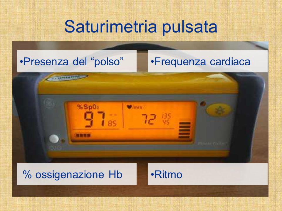 Saturimetria pulsata Presenza del polso Frequenza cardiaca