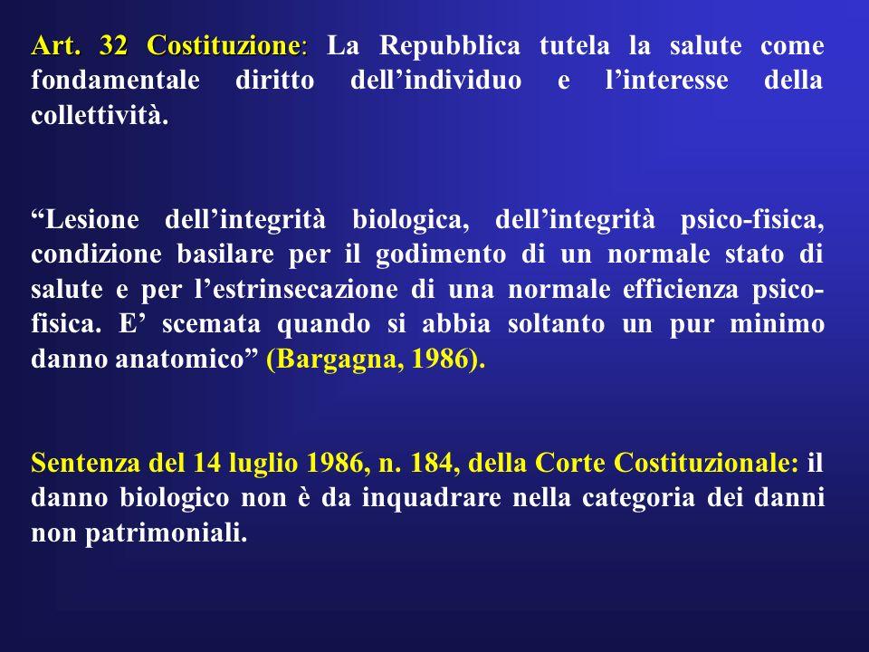 Art. 32 Costituzione: La Repubblica tutela la salute come fondamentale diritto dell'individuo e l'interesse della collettività.