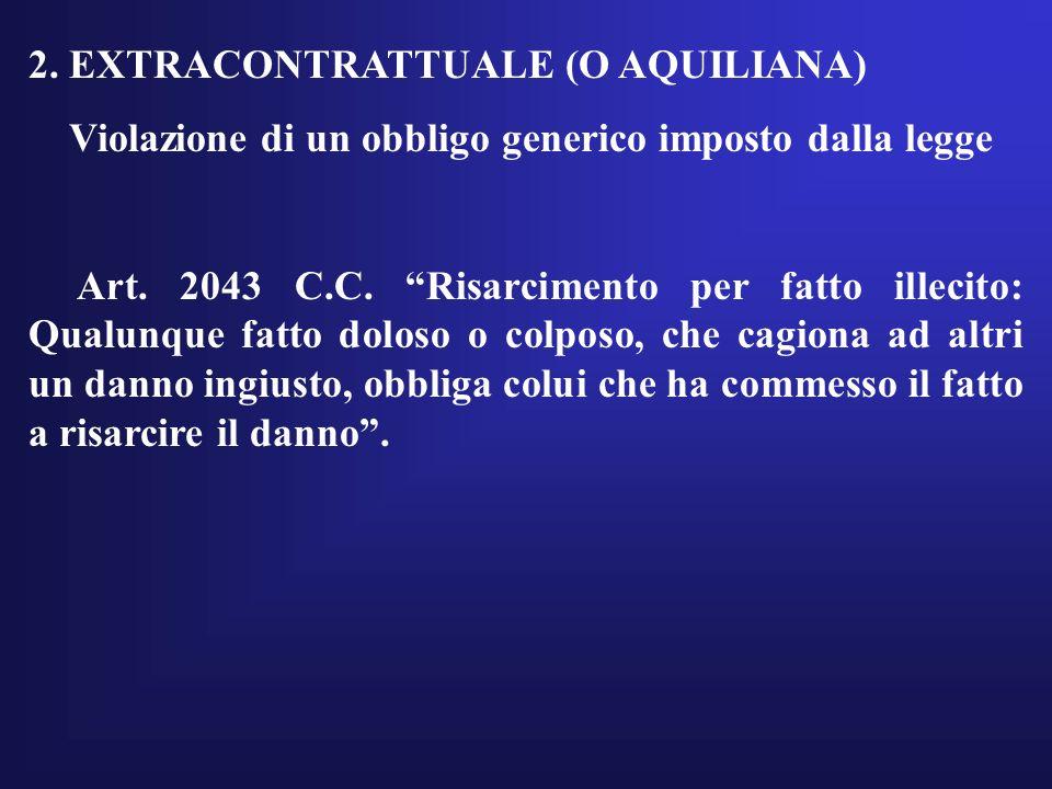 2. EXTRACONTRATTUALE (O AQUILIANA)