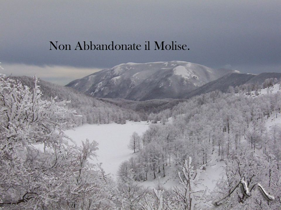 Non Abbandonate il Molise.