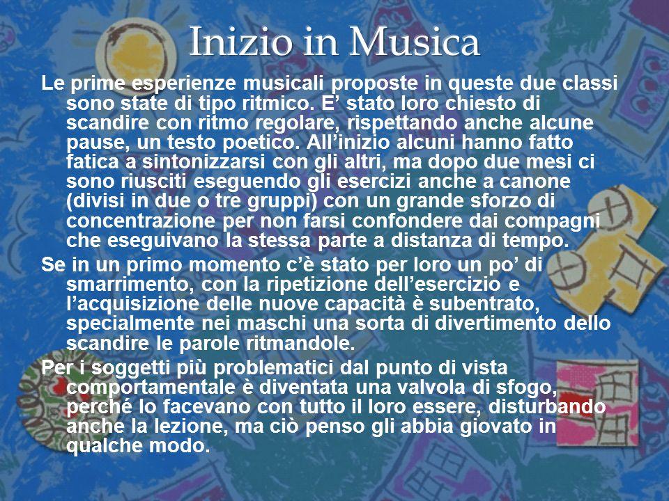 Inizio in Musica