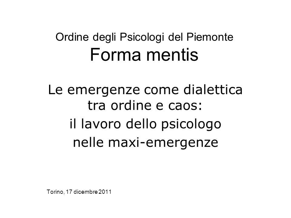 Ordine degli Psicologi del Piemonte Forma mentis