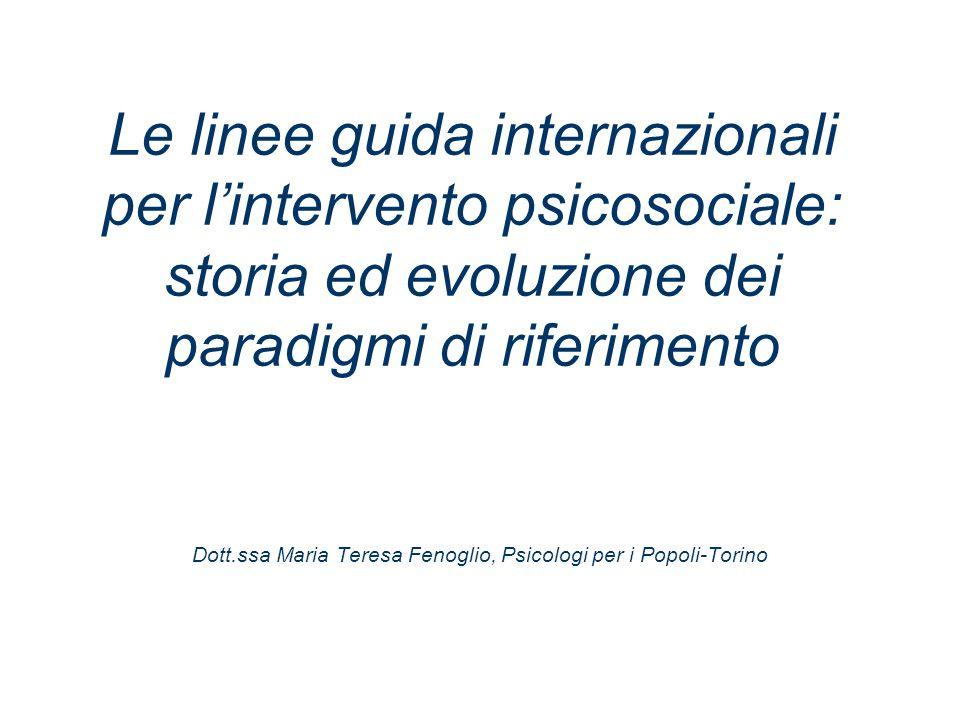 Dott.ssa Maria Teresa Fenoglio, Psicologi per i Popoli-Torino