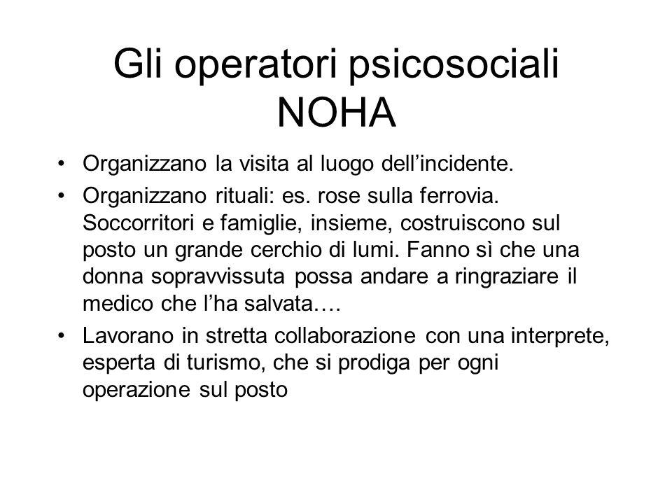 Gli operatori psicosociali NOHA