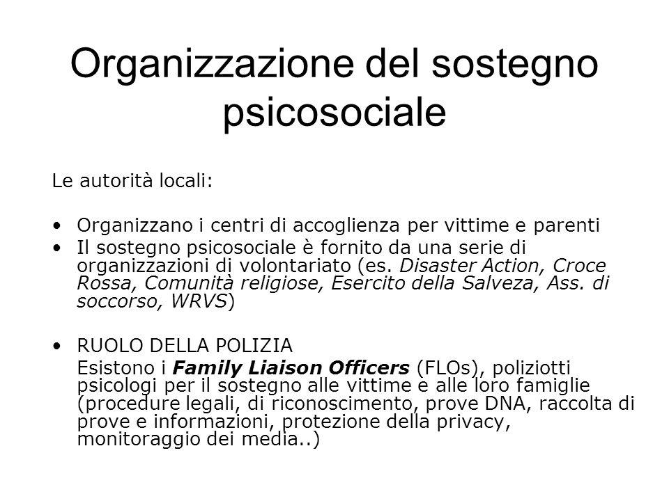 Organizzazione del sostegno psicosociale