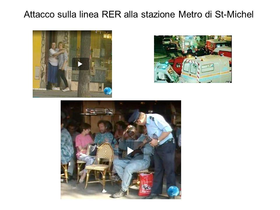 Attacco sulla linea RER alla stazione Metro di St-Michel