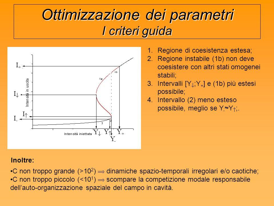 Ottimizzazione dei parametri I criteri guida