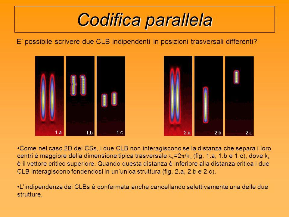 Codifica parallela E' possibile scrivere due CLB indipendenti in posizioni trasversali differenti 1.a.