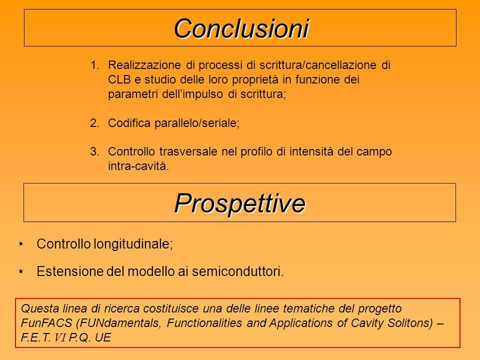 Conclusioni Prospettive Controllo longitudinale;