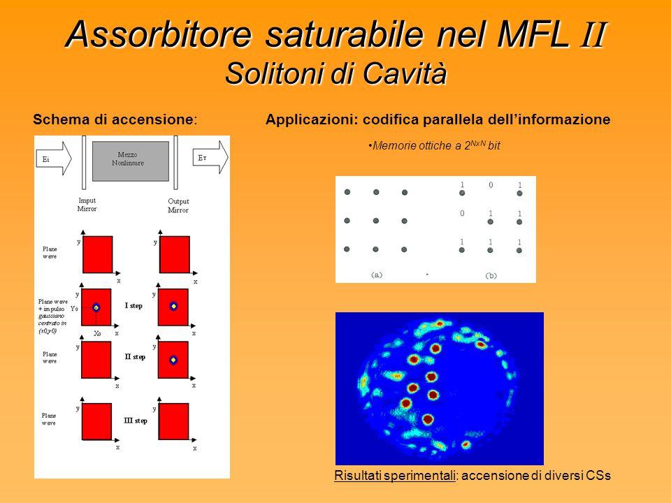 Assorbitore saturabile nel MFL II Solitoni di Cavità