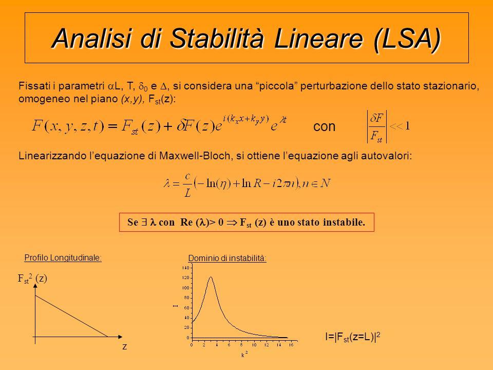 Analisi di Stabilità Lineare (LSA)