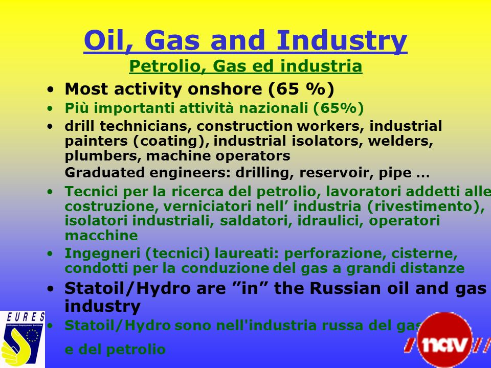 Oil, Gas and Industry Petrolio, Gas ed industria