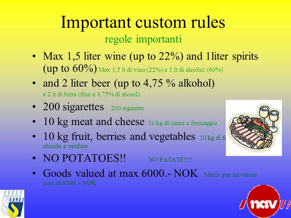 Important custom rules regole importanti