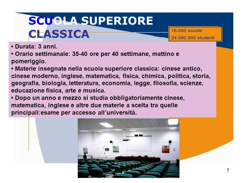 SCUOLA SUPERIORE CLASSICA