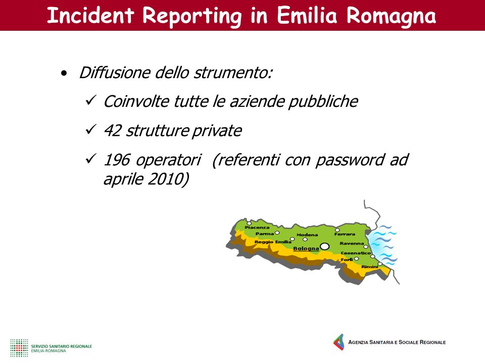 Incident Reporting in Emilia Romagna