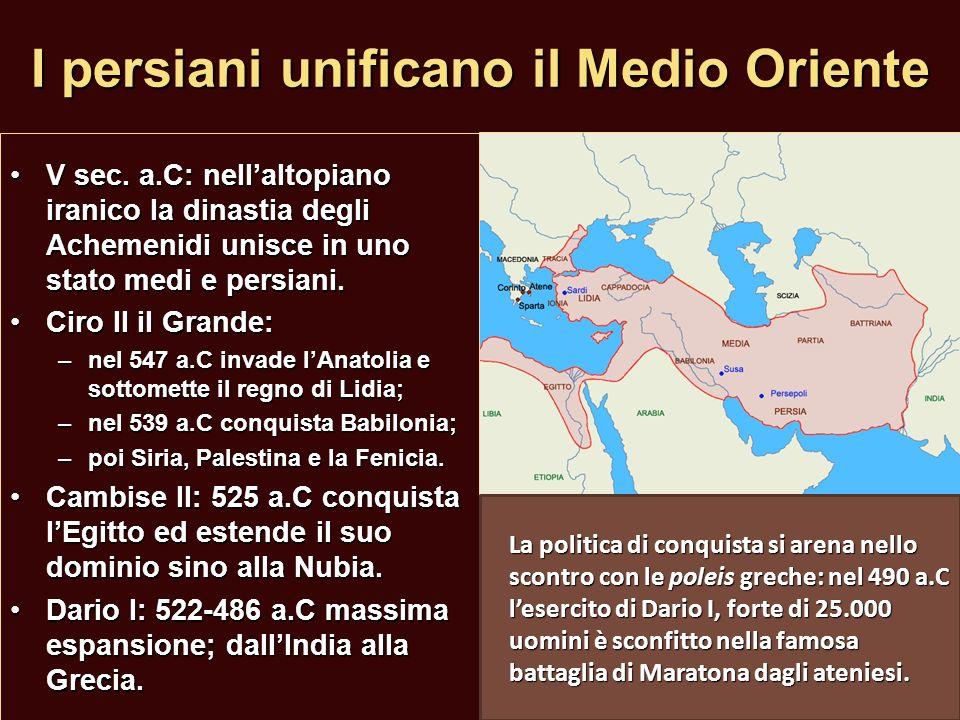I persiani unificano il Medio Oriente