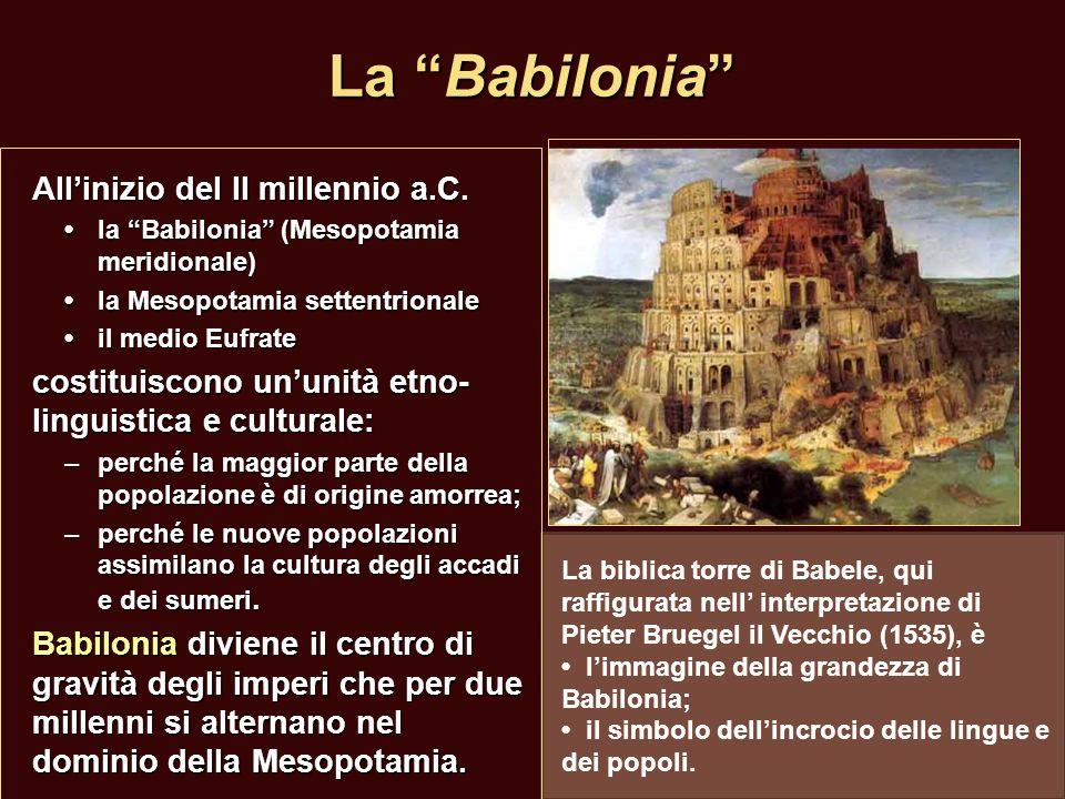 La Babilonia All'inizio del II millennio a.C.