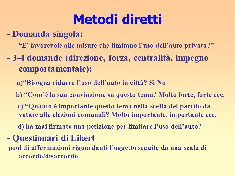 Metodi diretti - Domanda singola: