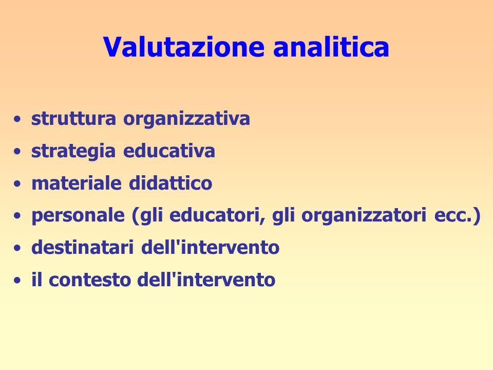 Valutazione analitica