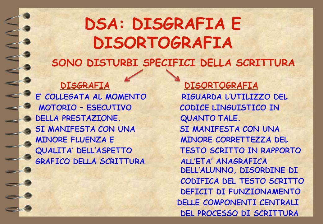 DSA: DISGRAFIA E DISORTOGRAFIA