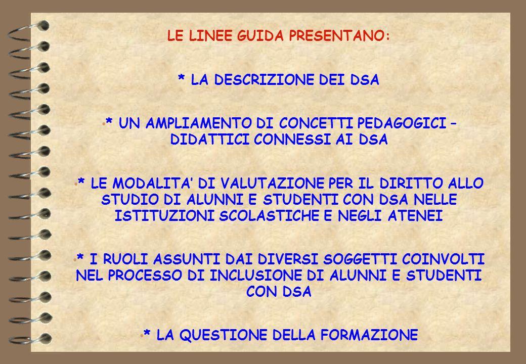 LE LINEE GUIDA PRESENTANO: