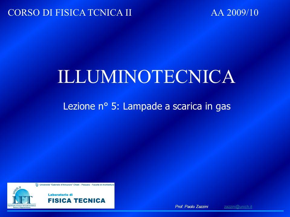Lezione n° 5: Lampade a scarica in gas