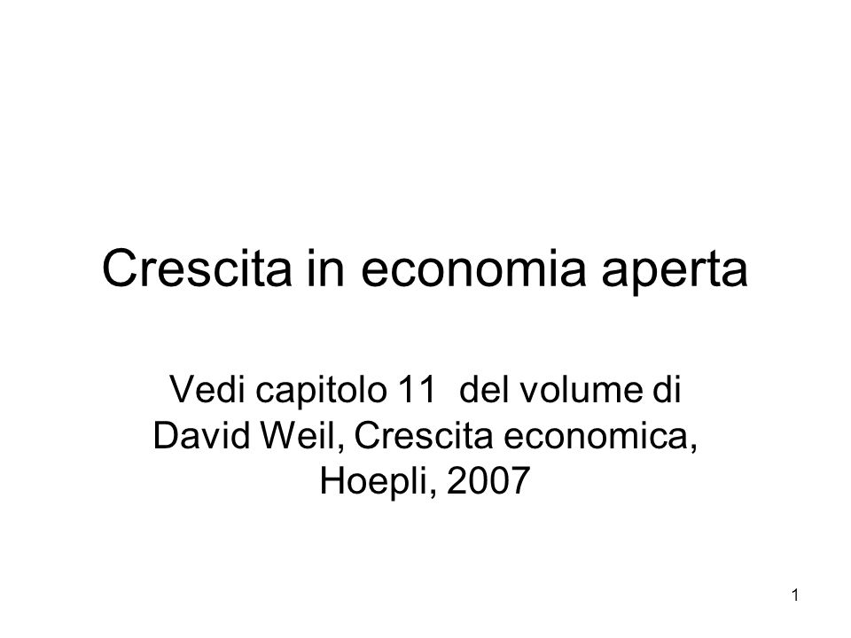 Crescita in economia aperta