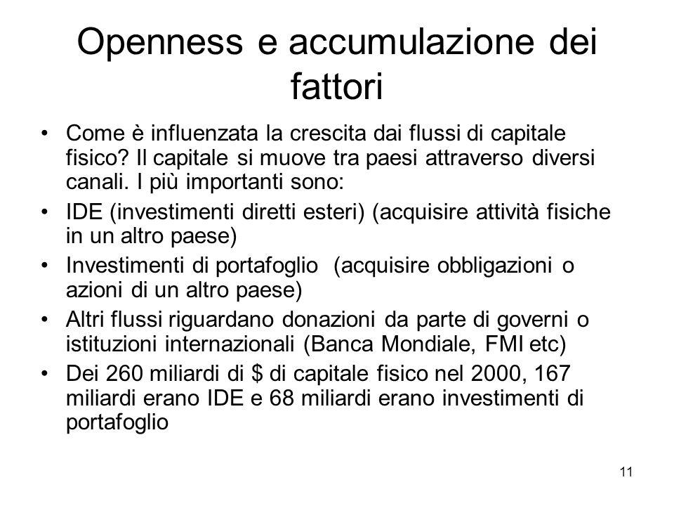 Openness e accumulazione dei fattori