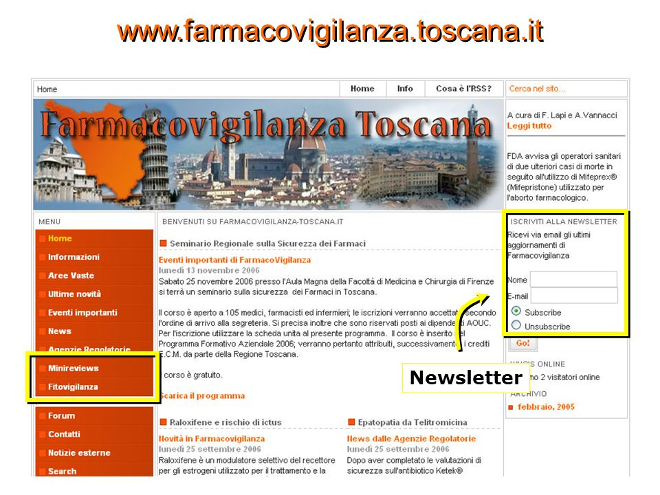 www.farmacovigilanza.toscana.it Newsletter