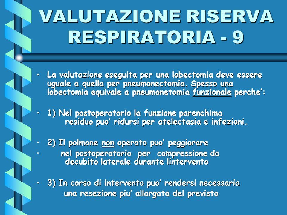 VALUTAZIONE RISERVA RESPIRATORIA - 9