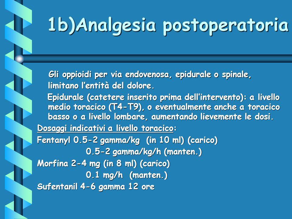 1b)Analgesia postoperatoria