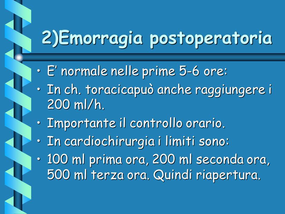 2)Emorragia postoperatoria