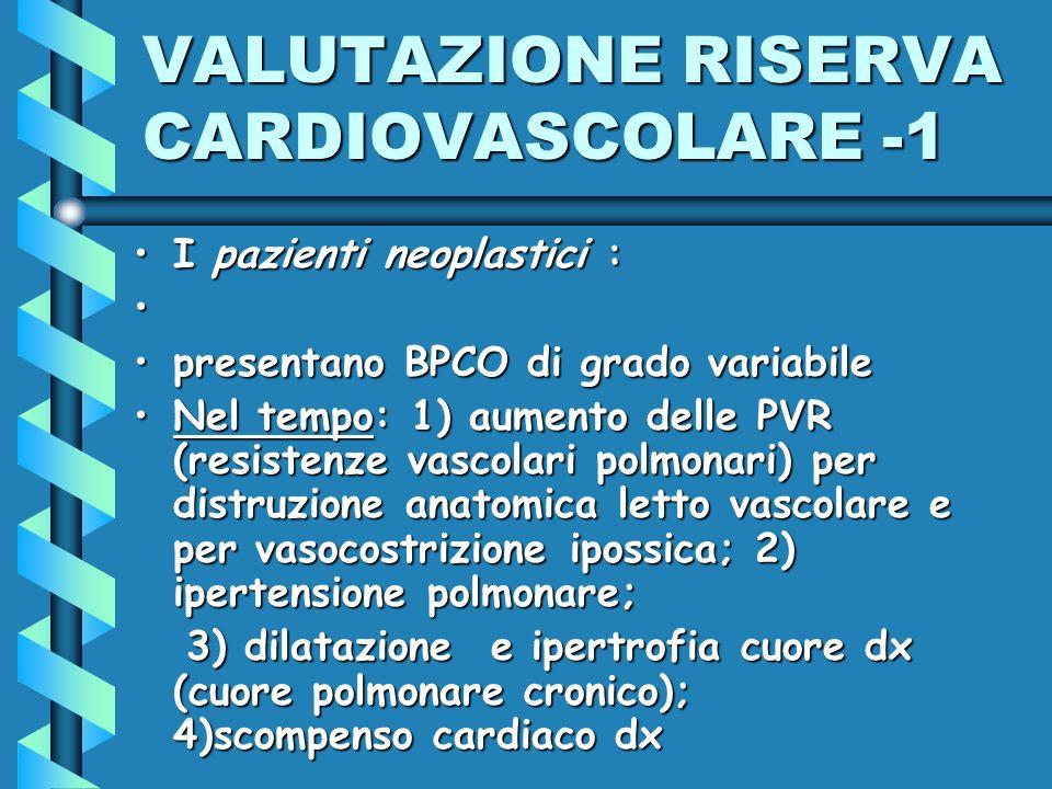 VALUTAZIONE RISERVA CARDIOVASCOLARE -1