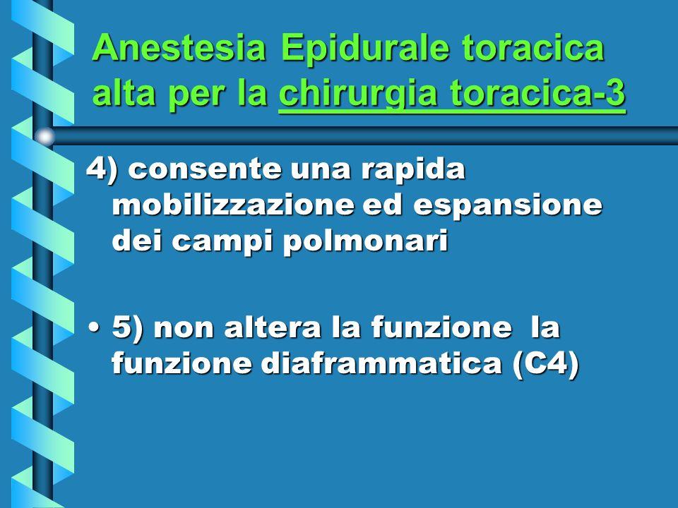 Anestesia Epidurale toracica alta per la chirurgia toracica-3