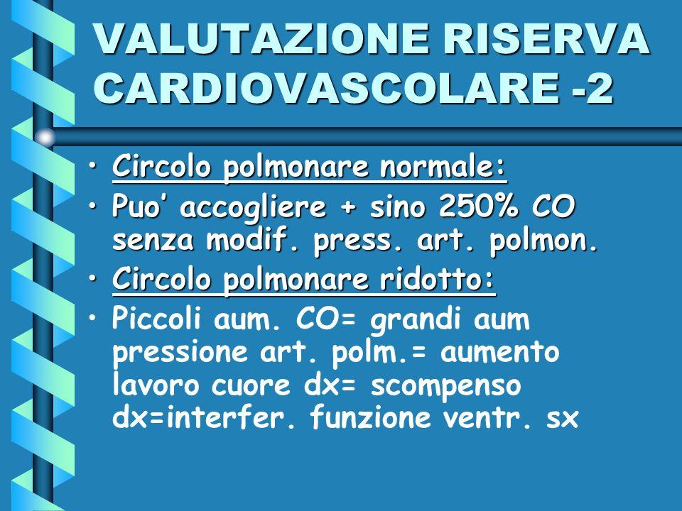 VALUTAZIONE RISERVA CARDIOVASCOLARE -2