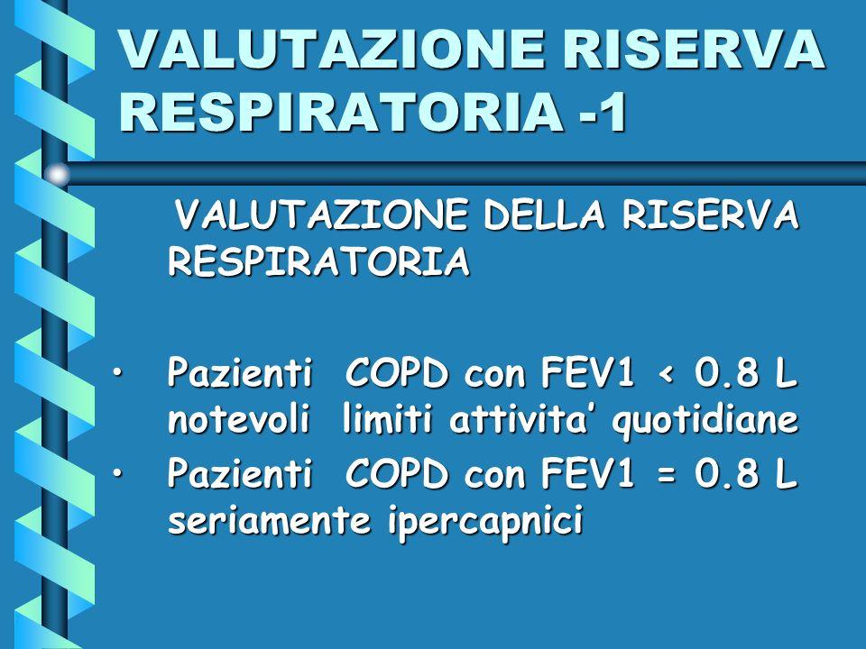 VALUTAZIONE RISERVA RESPIRATORIA -1