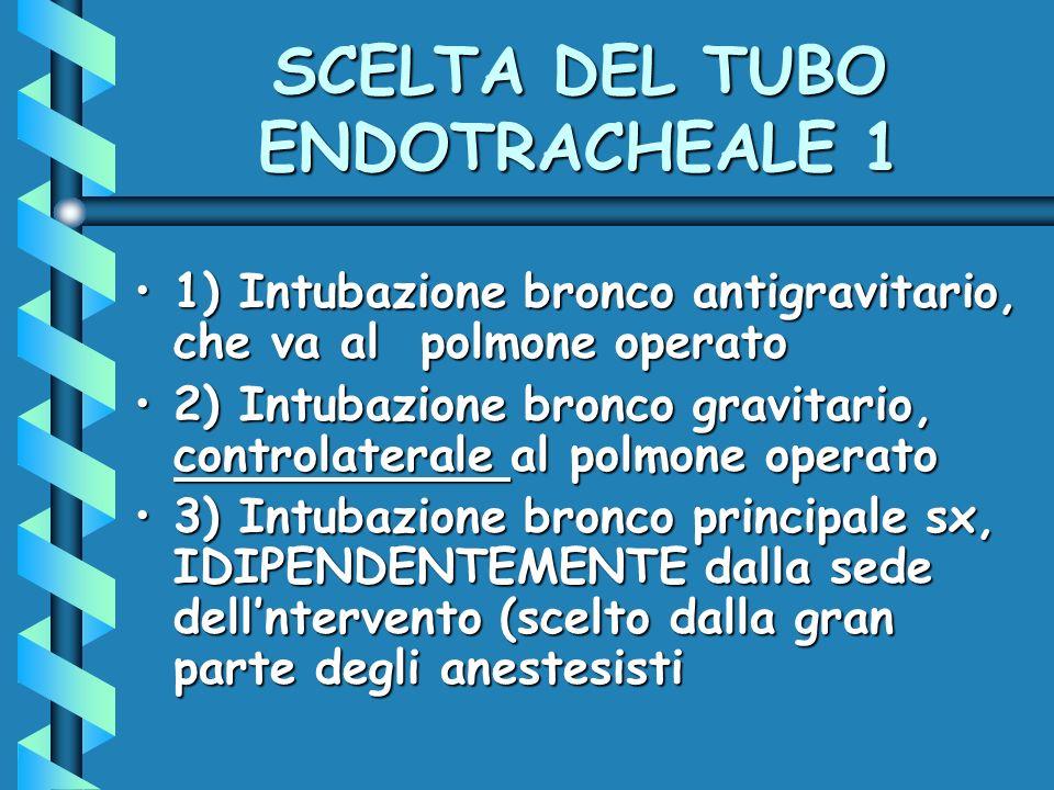 SCELTA DEL TUBO ENDOTRACHEALE 1