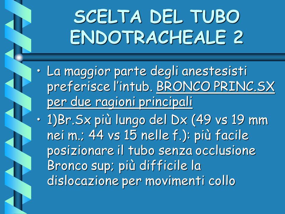 SCELTA DEL TUBO ENDOTRACHEALE 2