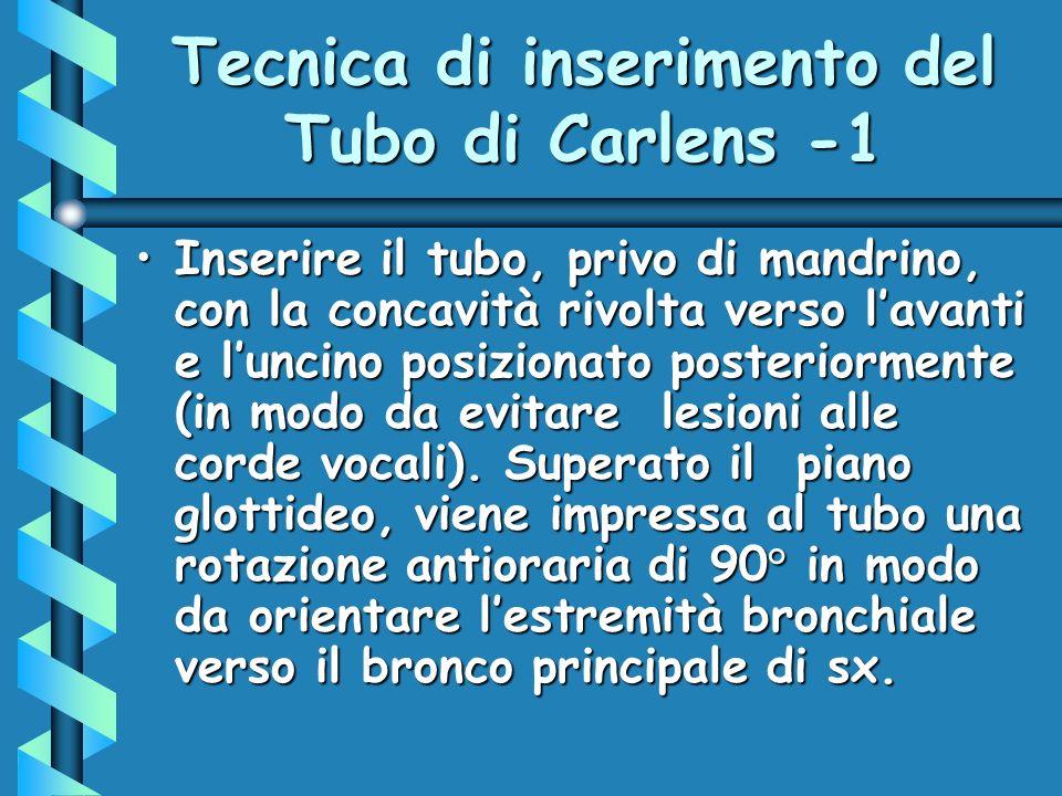 Tecnica di inserimento del Tubo di Carlens -1