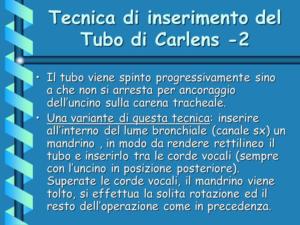 Tecnica di inserimento del Tubo di Carlens -2