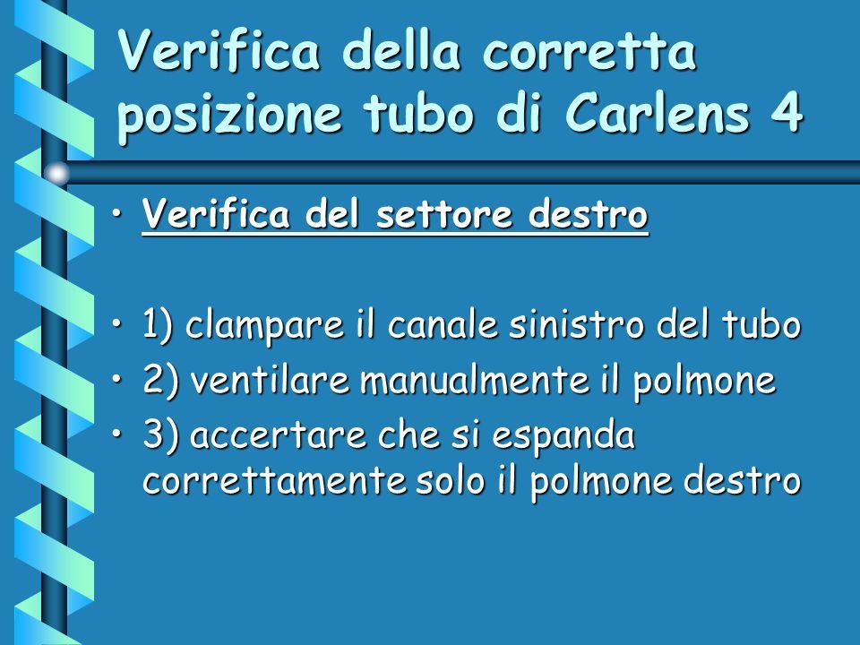 Verifica della corretta posizione tubo di Carlens 4