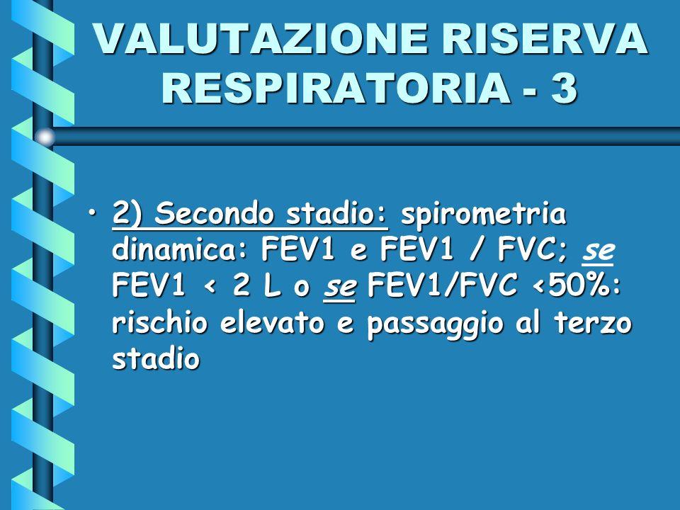 VALUTAZIONE RISERVA RESPIRATORIA - 3