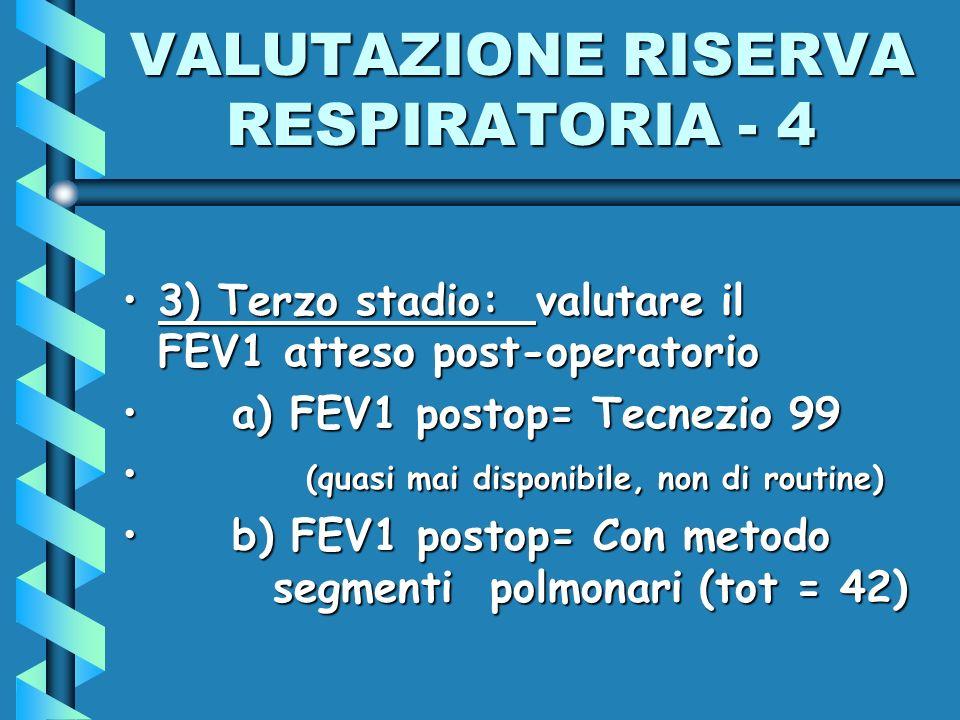 VALUTAZIONE RISERVA RESPIRATORIA - 4