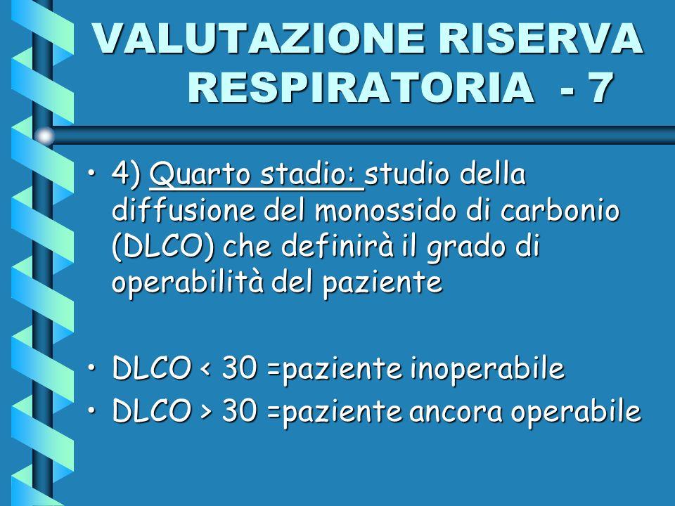 VALUTAZIONE RISERVA RESPIRATORIA - 7