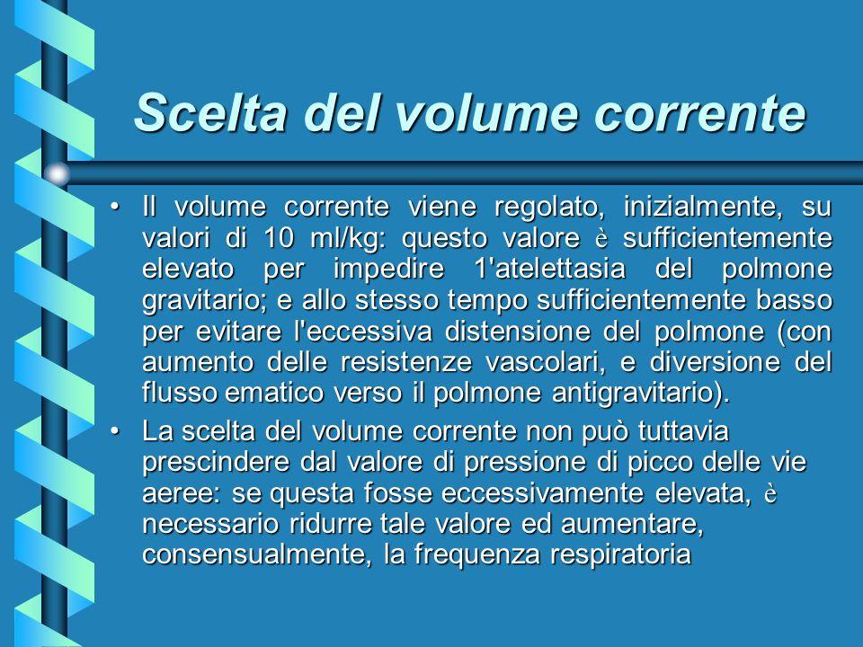 Scelta del volume corrente