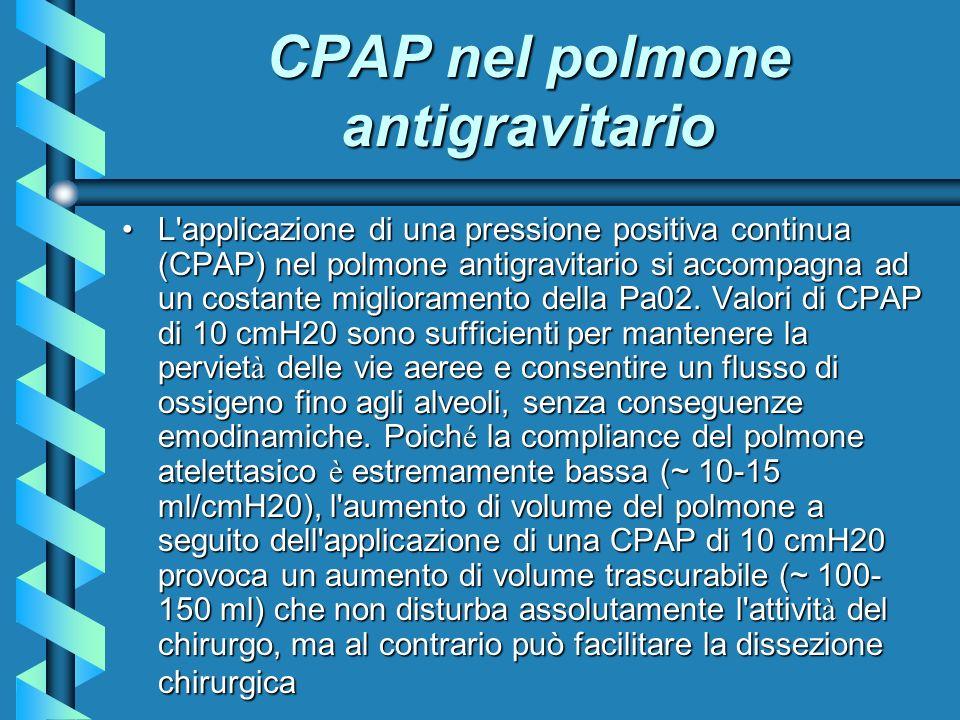CPAP nel polmone antigravitario