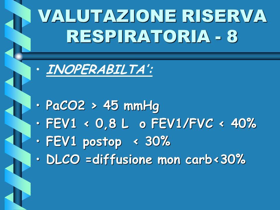 VALUTAZIONE RISERVA RESPIRATORIA - 8