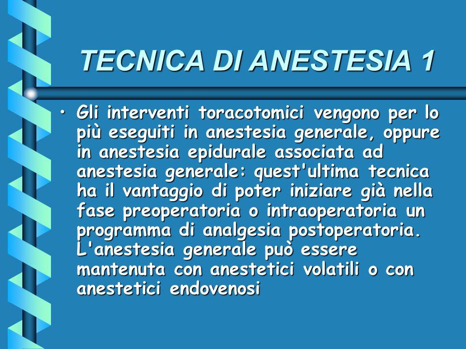 TECNICA DI ANESTESIA 1