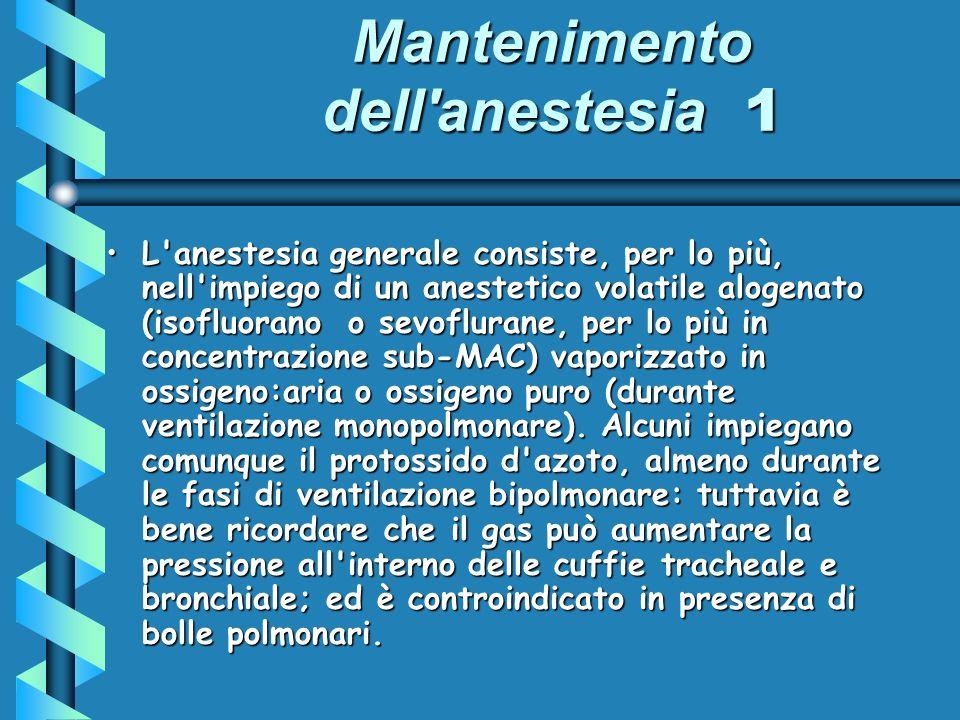 Mantenimento dell anestesia 1